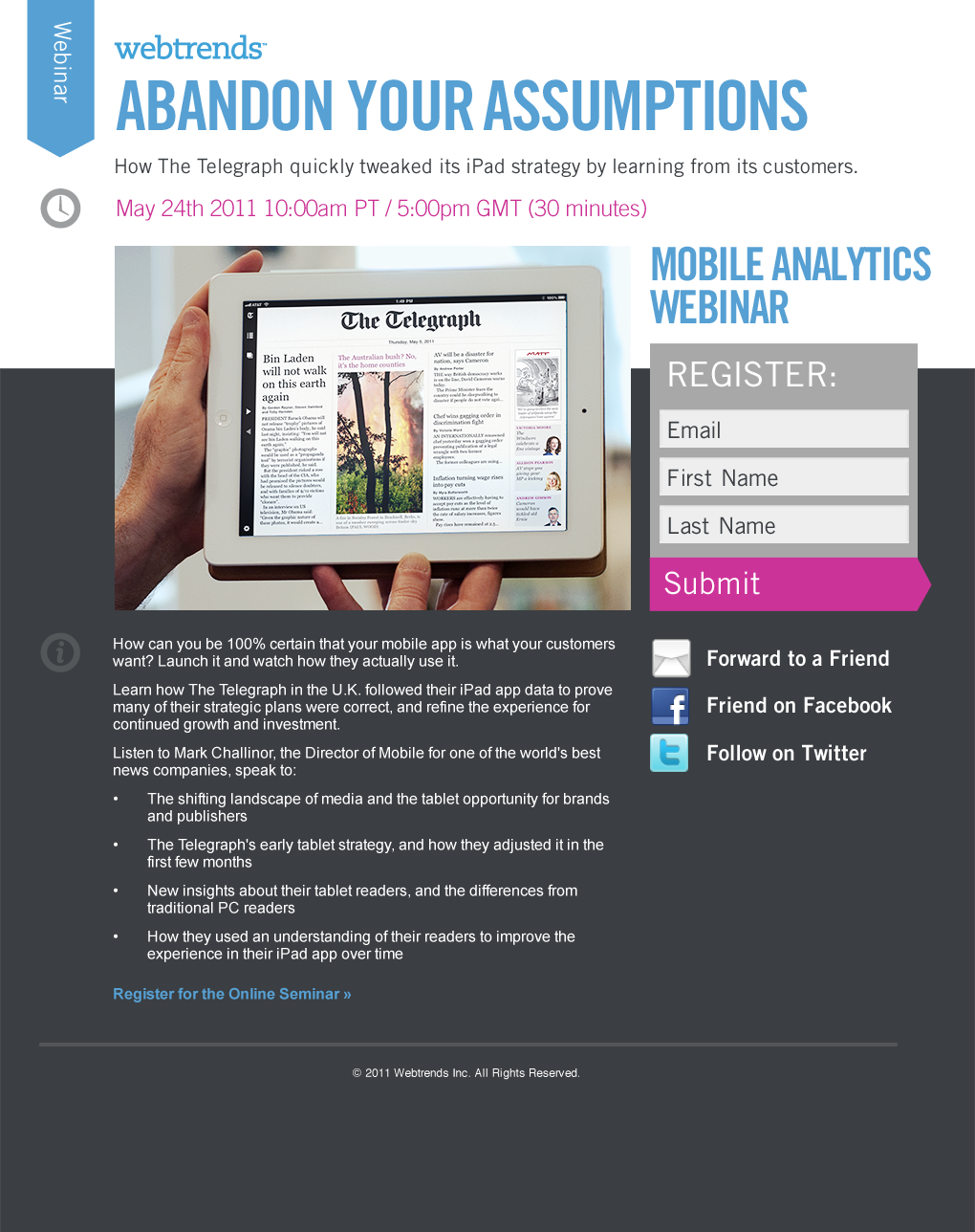JAMES SITZER | Webtrends email and landing page templates