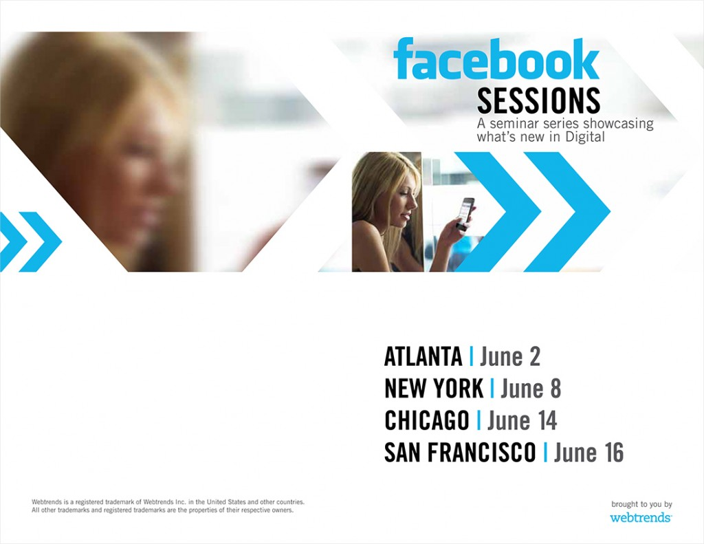 Webtrends Facebook Sessions brochure cover