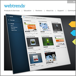 Webtrends homepage design